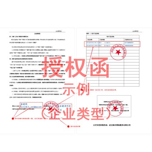 授权函(企业类型)(示例)